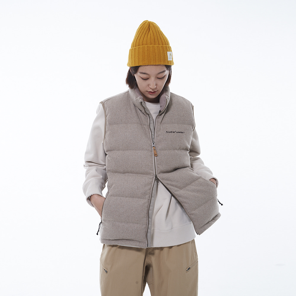 Wool Down Vest (Beige)