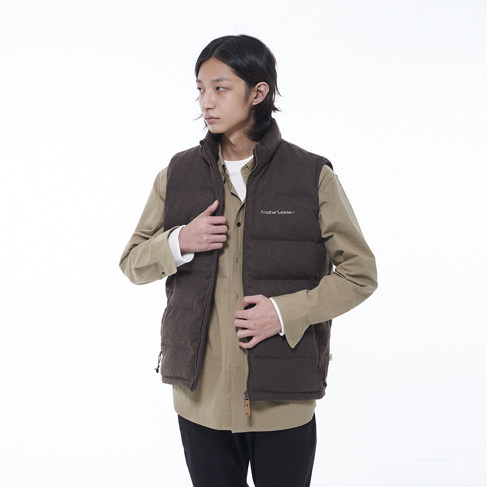 Wool Down Vest (Brown)