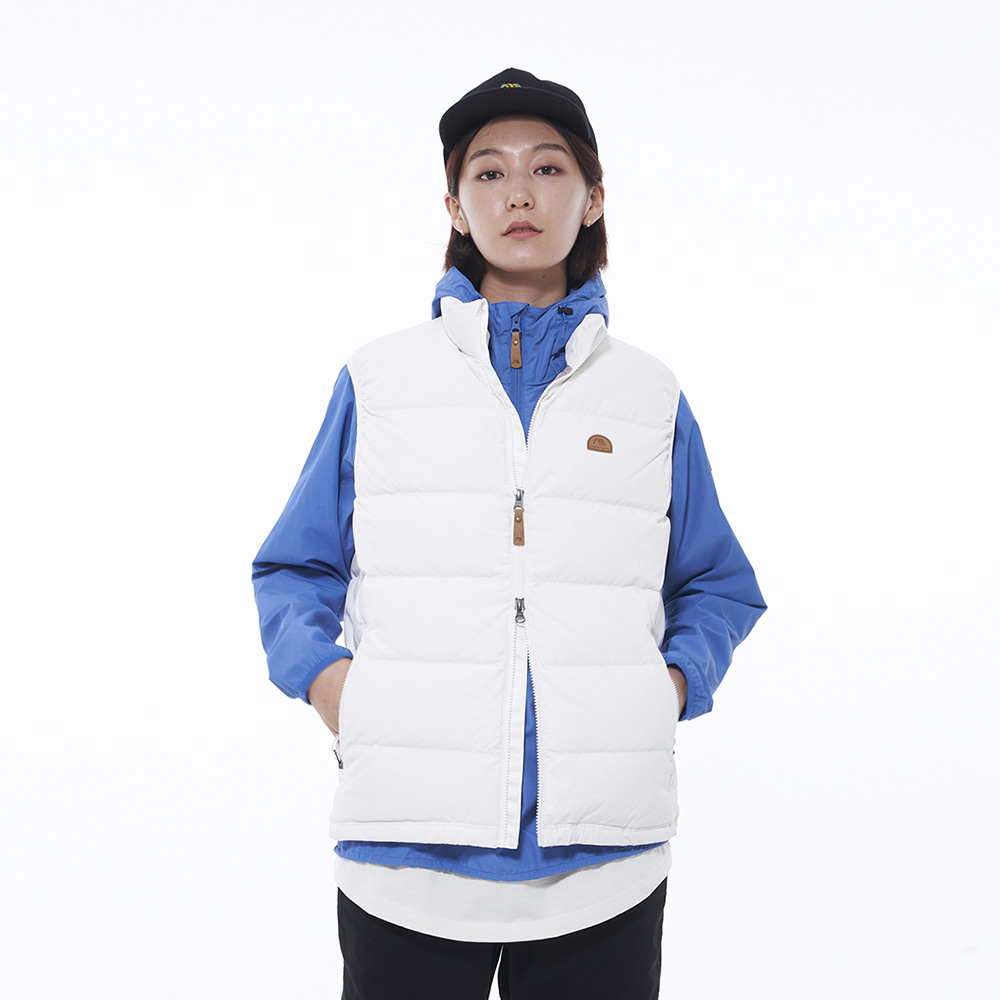 Basic Down Vest (White)