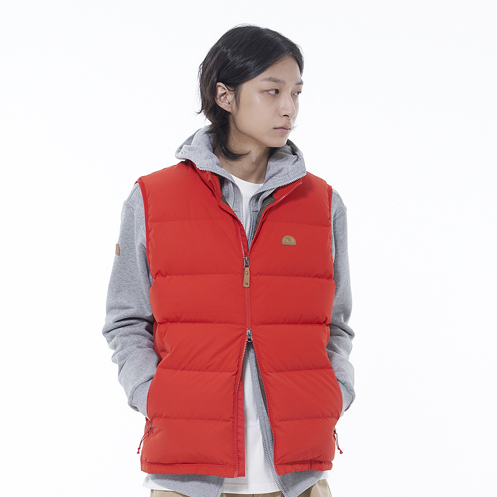 Basic Down Vest (Red)