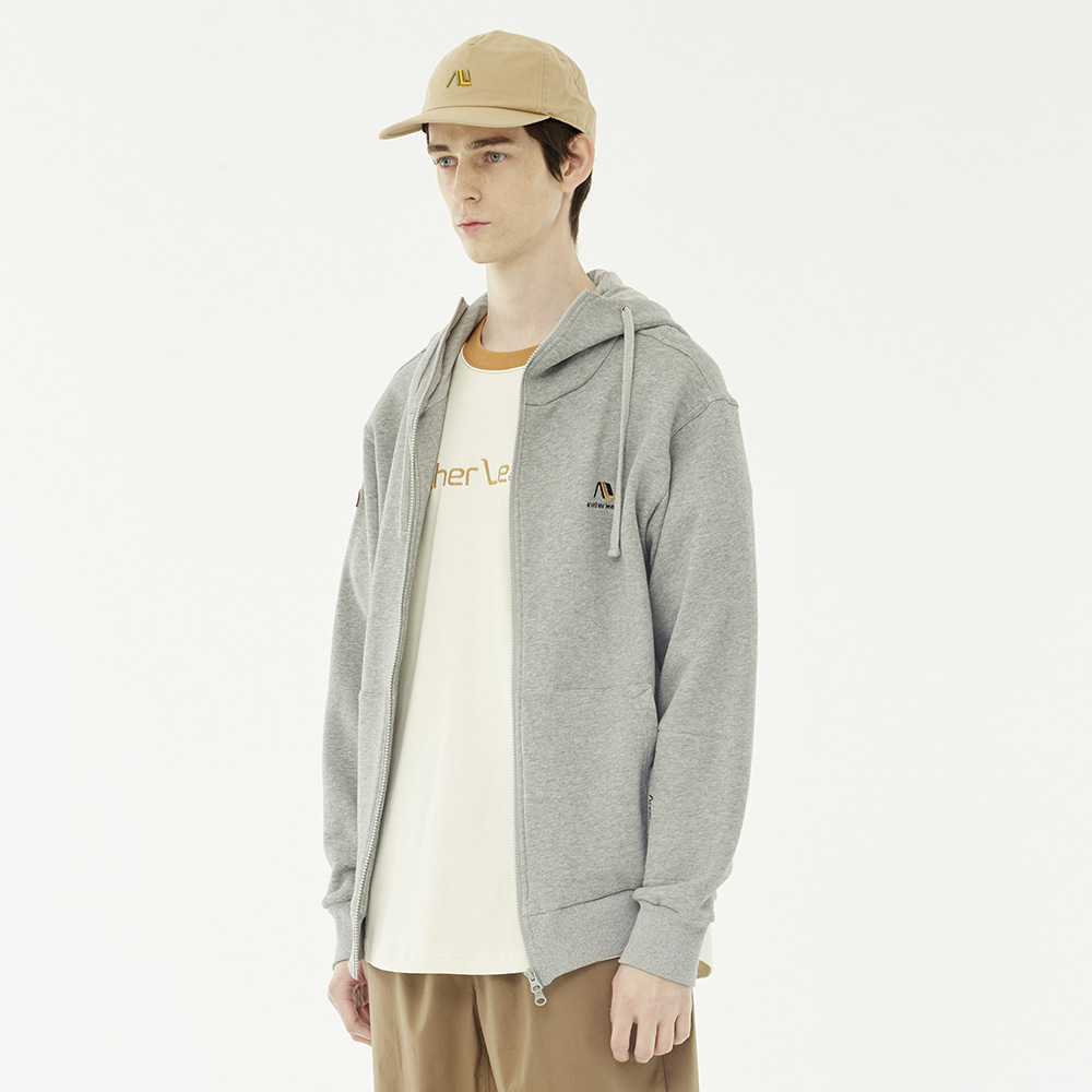 Patch Hood Zip-up (Gray)