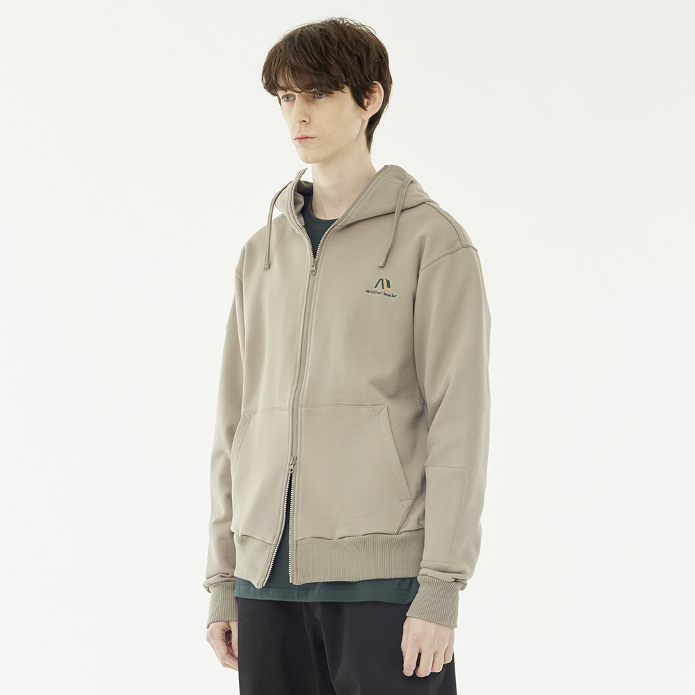 Patch Hood Zip-up (Beige)