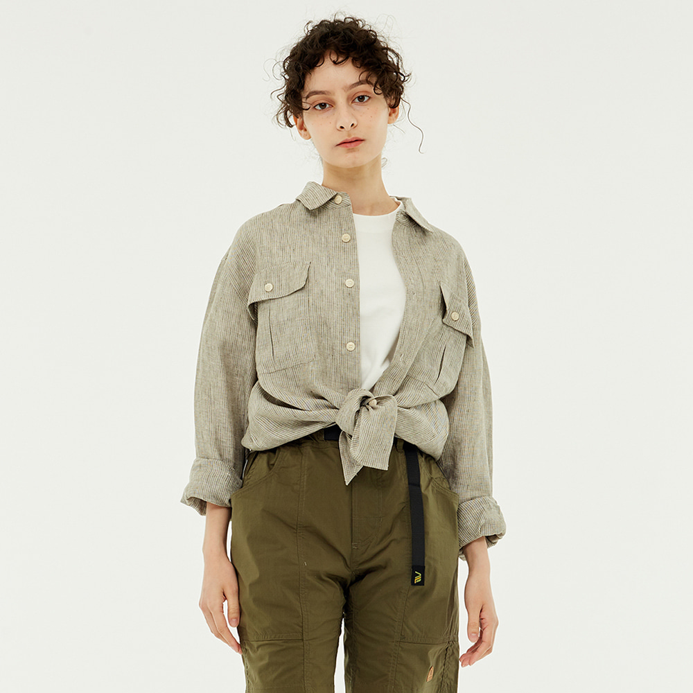 Leader Linen shirts(Khaki)