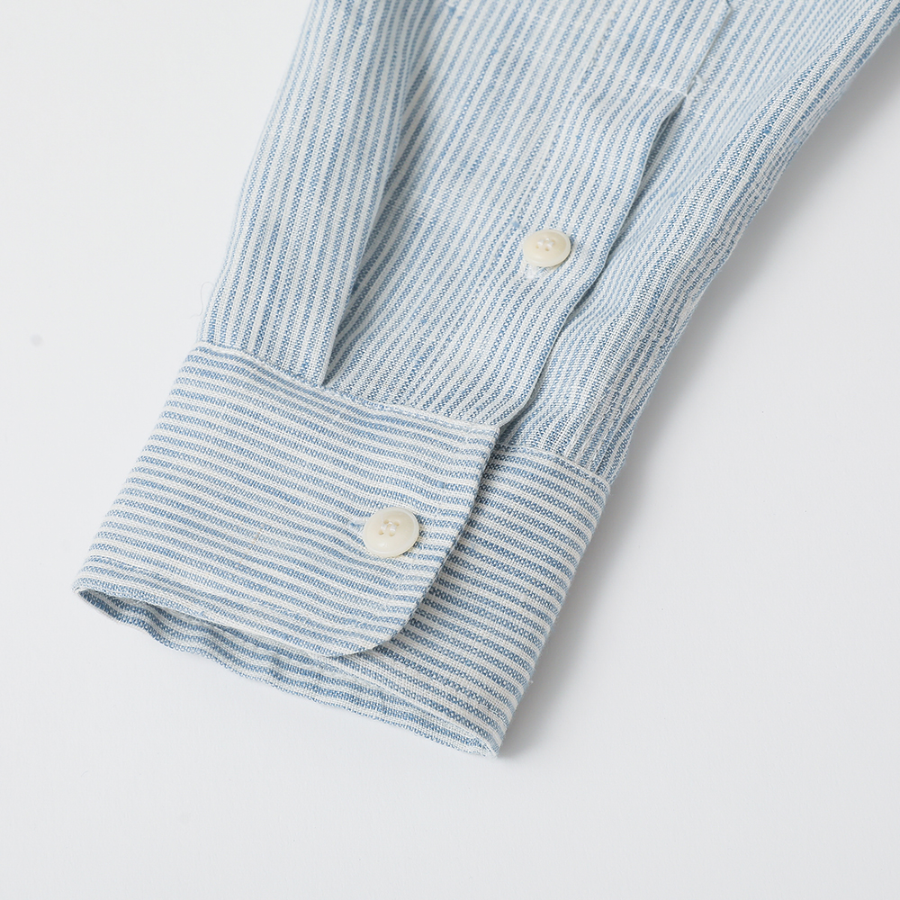 어나더리더(ANOTHER LEADER) Leader Linen shirts(Sky)