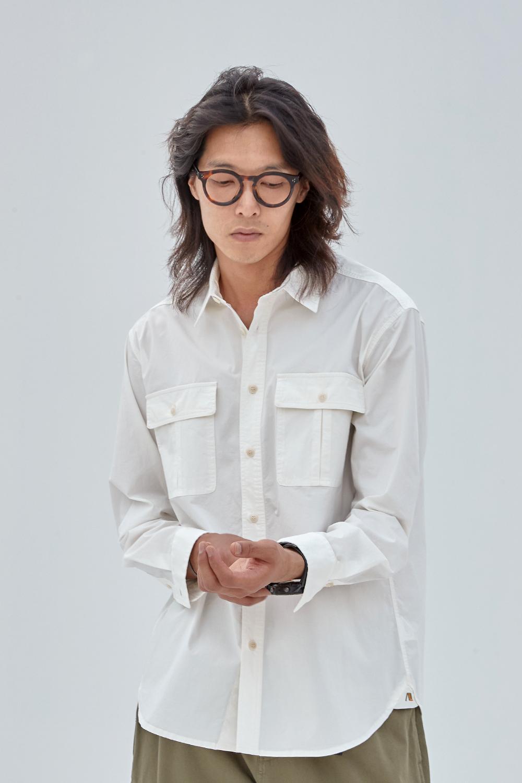 어나더리더(ANOTHER LEADER) Leader Cotton shirts(White)
