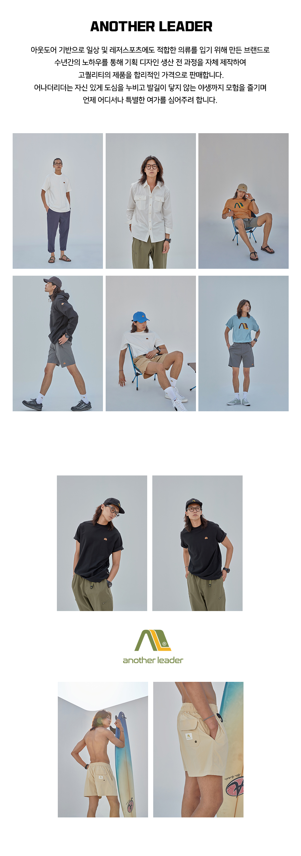 어나더리더(ANOTHER LEADER) side pocket short pants (Black)